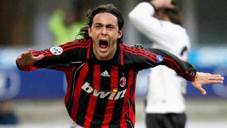 Filippo Inzaghi selebrasi saat masih jadi pemain. Copyright: INDOSPORT