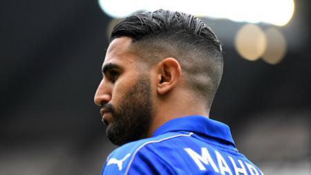 Pemain Leicester City, Riyad Mahrez diincar AS Roma. - INDOSPORT