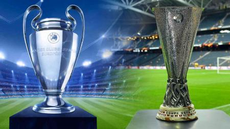 Tropi Liga Champions dan Liga Eropa. - INDOSPORT
