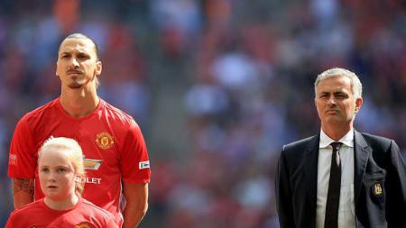 Zlatan Ibrahimovic (kiri) dan Jose Mourinho. - INDOSPORT