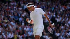 Indosport - Roger Federer melangkah ke final Wimbledon 2017.