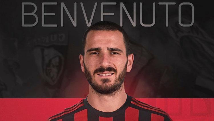 Bek anyar AC Milan, Leonardo Bonucci. Copyright: Twitter@MilanEye