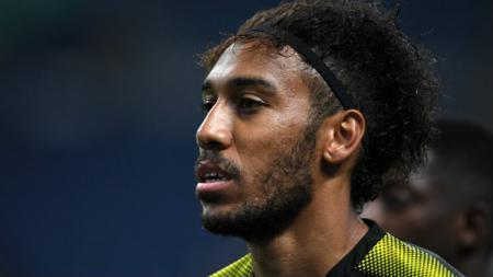 Striker Dortmund, Pierre-Emerick Aubameyang. - INDOSPORT