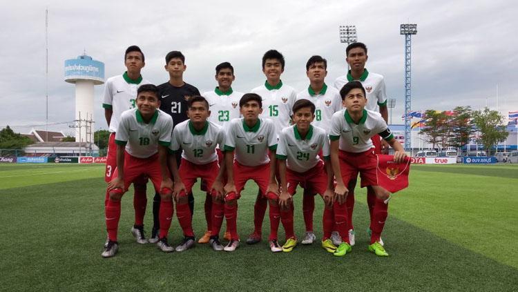 Skuat Timnas Indonesia U-16. Copyright: Twitter@pssi__fai