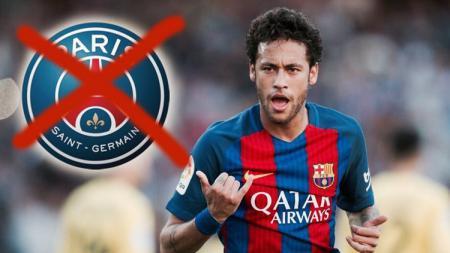 Neymar tak boleh hijrah ke PSG. - INDOSPORT