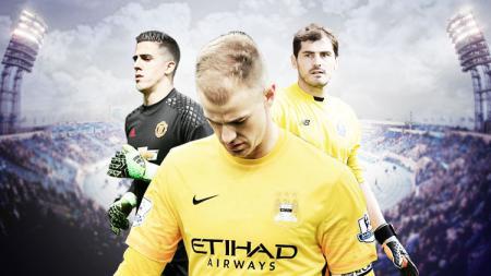 Kiri-kanan: Joel Pereira, Joe Hart, dan Iker Casillas. - INDOSPORT