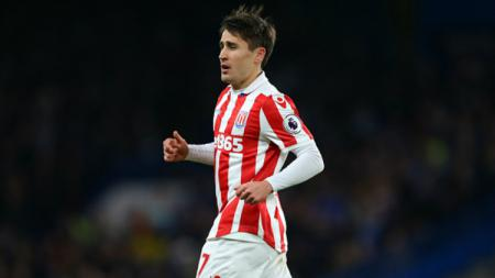 Bojan Krkic saat memperkuat Stoke City. - INDOSPORT
