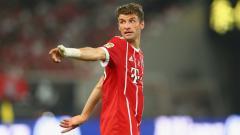 Indosport - Thomas Muller catat rekor penting usai pertandingan Piala Super Eropa antara Bayern Munchen vs Sevilla, Jumat (25/09/20) dini hari WIB.