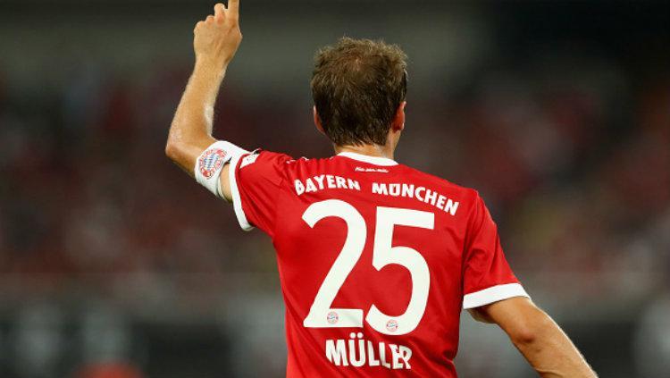 Pemain bintang Bayern Munchen, Thomas Muller. Copyright: Alexander Hassenstein/Bongarts/Getty Images