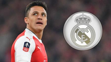 Alexis Sanchez kabarnya akan menjadi alat tukar dengan Karim Benzema. - INDOSPORT