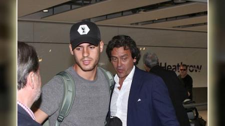 Alvaro Morata bersama sang agen Juanma Lopez. - INDOSPORT