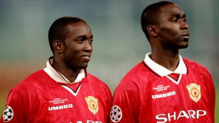 Andy Cole dan Dwight Yorke ketika membela Manchester United. - INDOSPORT