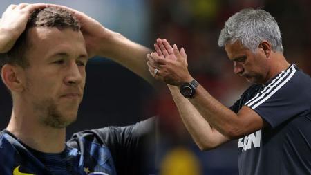 Ivan Perisic dan Jose Mourinho. - INDOSPORT