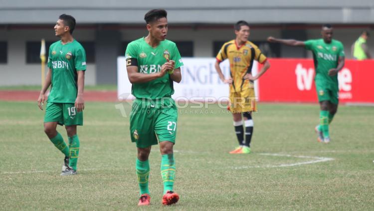 Kapten Bhayangkara FC, Indra Kahfi. FOTO INDOSPORT/Herry Ibrahim. Copyright: Herry Ibrahim/INDOSPORT