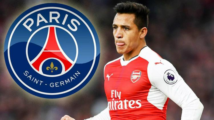 Kabar bergabungnya Alexis Sanchez ke Paris Saint-Germain semakin kencang. Copyright: Thesun.co.uk