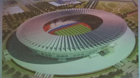 Desain wajah baru stadion GBK. - INDOSPORT