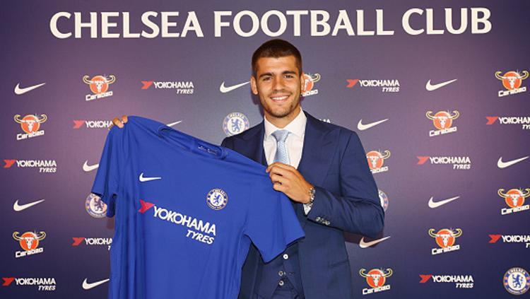Alvaro Morata, striker Chelsea. Copyright: INDOSPORT