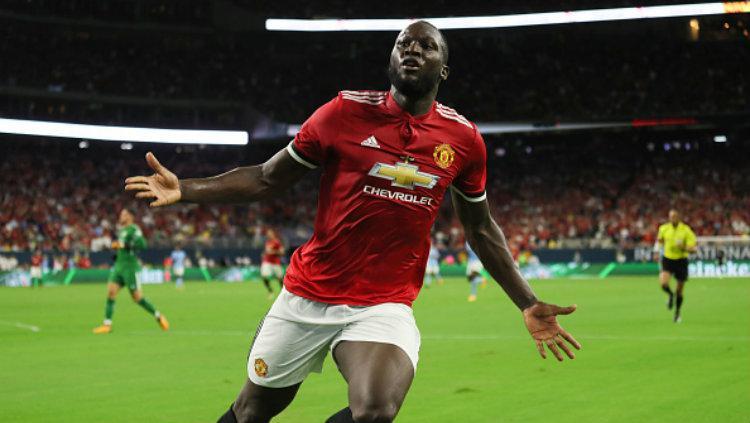 Bintang baru Manchester United, Romelu Lukaku. Copyright: Matthew Ashton - AMA/Getty Images