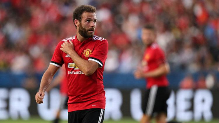 Gelandang Manchester United, Juan Mata. Copyright: Matthew Ashton - AMA/Getty Images