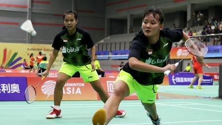Agatha Imanuela/Siti Fadia Silva wakil ganda putri Indonesia di Asia Junior Championships 2018. - INDOSPORT