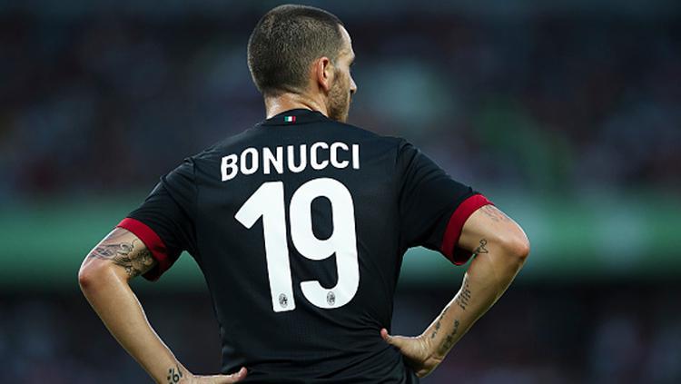 Leonardo Bonucci memakai nomor punggung 19. Copyright: Indosport.com
