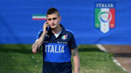 Bintang Timnas Italia dan Paris Saint-Germain, Marco Verratti. - INDOSPORT