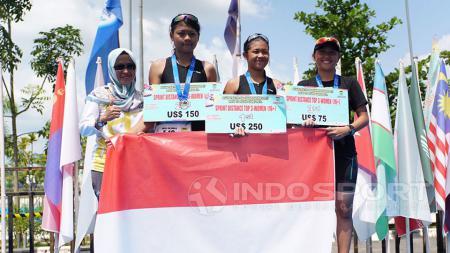 Indonesia berjaya di rangkaian kejuaraan Asian Triathlon Championship (ASTC) 2017, Minggu (23/07/17). - INDOSPORT