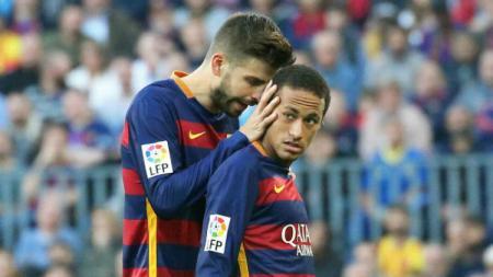 Gerard Pique dan Neymar. - INDOSPORT