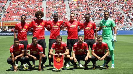 Skuat Manchester United bakal kian kuat lakoni Liga Inggris musim depan setelah ada lima pemain jebolan akademi muda yang bakal dipromosikan ke tingkat senior. - INDOSPORT