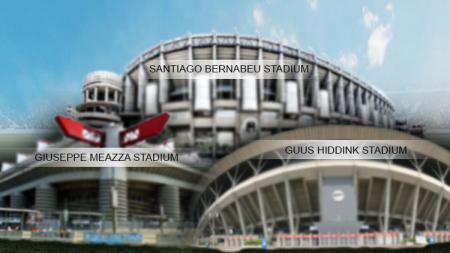 Stadion, Bernabeu, Giuseppe Meazza, dan Guus Hiddink. - INDOSPORT