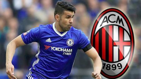 Diego Costa dikabarkan akan menjadi pemain AC Milan musim depan. - INDOSPORT