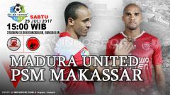 Indosport - Empat tahun lalu, Madura United menggasak PSM Makassar dengan skor 4-1 pada pekan ke-11 turnamen Indonesia Soccer Championship (ISC) 2016.