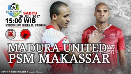Empat tahun lalu, Madura United menggasak PSM Makassar dengan skor 4-1 pada pekan ke-11 turnamen Indonesia Soccer Championship (ISC) 2016. - INDOSPORT