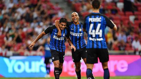 Selebrasi para pemain Inter Milan saat melawan Bayern Munchen. - INDOSPORT