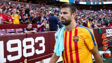 Bek andalan Barcelona, Gerard Pique. - INDOSPORT