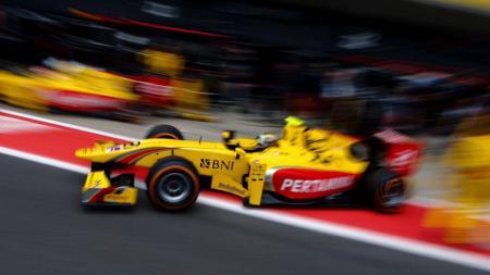 Sean Gelael jelang balapan di Sirkuit Hungaroring. - INDOSPORT