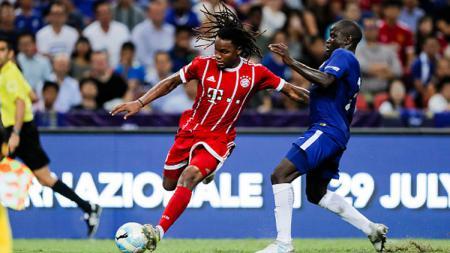 Gelandang Bayern Munchen, Renato Sanches saat melawan Chelsea. - INDOSPORT