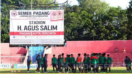 Latihan Timnas U-19 jelang laga uji coba lawan PSP Padang. - INDOSPORT
