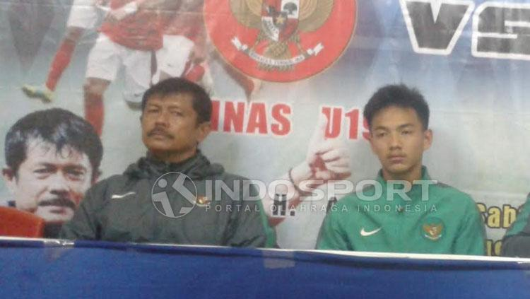 Pelatih Timnas U-19, Indra Sjafri usai pertandingan. Copyright: Taufik Hidayat/Indosport.com