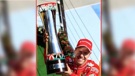 Sebastian Vettel juara di GP F1 Hungaria. - INDOSPORT