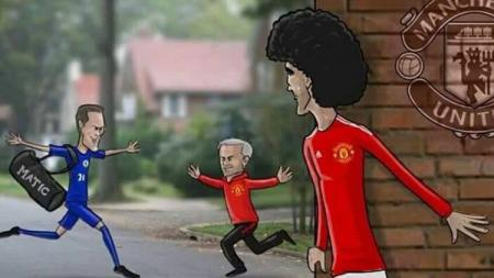 Gelandang anyar Manchester United, Nemanja Matic. - INDOSPORT