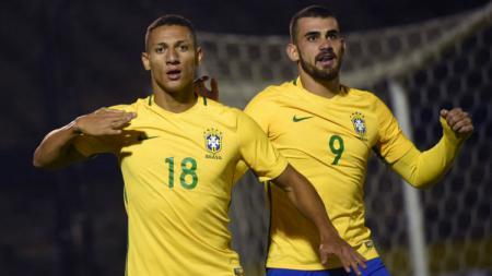 Penyerang Everton dan Timnas Brasil, Richarlison, menjadi pemain incaran Manchester United pada jendela transfer musim dingin mendatang. - INDOSPORT
