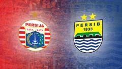 Indosport - Logo Persija Jakarta dan Persib Bandung.