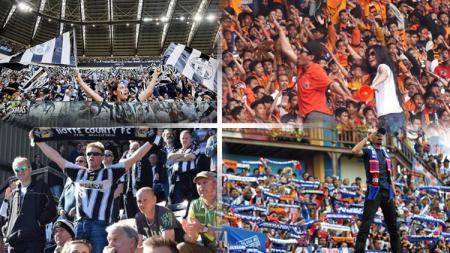 Suporter Juventus, Notts County, Jakmania, dan Aremania. - INDOSPORT