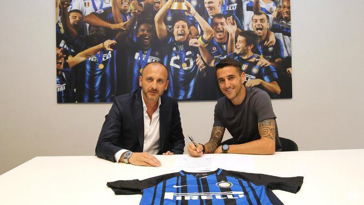 Matias Vecino resmi ke Inter Milan. Copyright: Twitter/@Inter_en