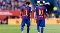 Indosport - Lionel Messi dan Neymar.