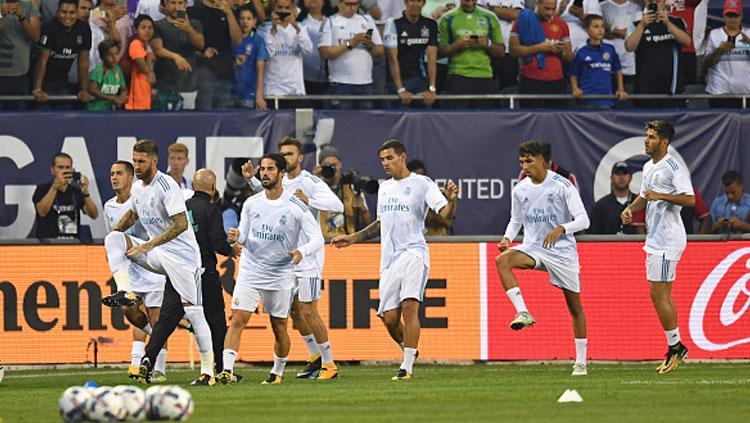 Selebrasi pemain Real Madrid. Copyright: INDOSPORT