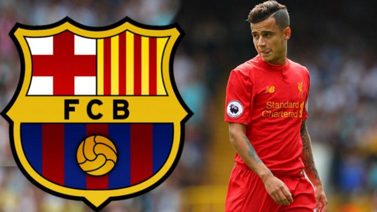 Philippe Coutinho dikabarkan akan dilepas Liverpool. Copyright: Pinterest