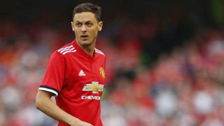 Gelandang Manchester United, Nemanja Matic, memuji keberanian Ole Gunnar Solskjaer memainkan banyak pemain muda musim ini. - INDOSPORT