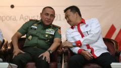 Indosport - Ketum PSSI Edy Rahmayadi dan Menpora Imam Nahrawi.